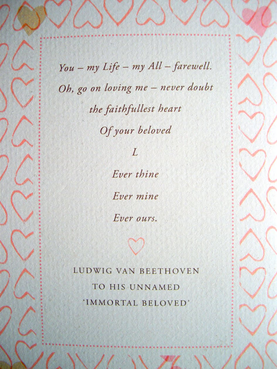 note i was not the only one enthralled by the passion hidden within the love letters indeed bernard rose directed a film entitled immortal beloved in