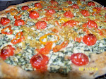 Sourdough pizza with Ricotta and Spinach topping