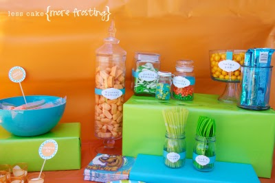 The Food Table Reinforced Her Color Scheme And One Of Our FAVORITE Parts Are Names Such As Daphne Dip Velma Gum