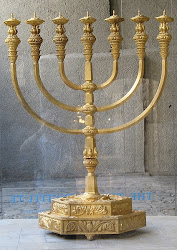 The Menorah of The Holy Temple