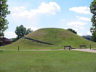 The Criel Mound in South Charleston, West Virginia, USA.