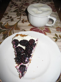 Blackberry Tart and Irish Coffee