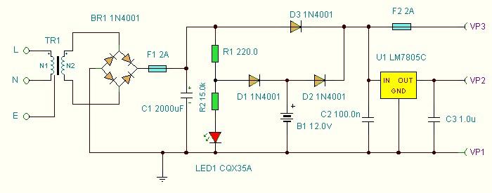 Circuito Ups 12v : El rincon de los circuitos una fuente ups básica