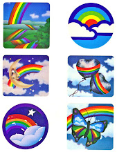 Rainbow Sticker Sheet by Freelance