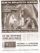 Hebe de Bonafini en Córdoba - Fac de Derecho