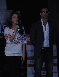 Aishwarya and Hrithik at first promo launch of Guzaarish