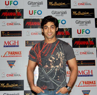 An aspiring actor for PIRANHA 3D' RED CARPET PREMIERE in Mumbai