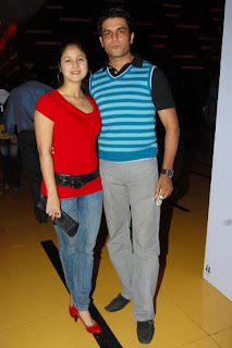 Kirti and Sharad Kelkar at the premier of horror film Kaalo