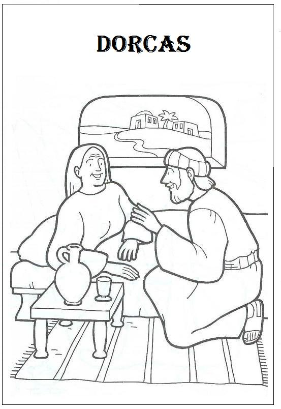 B blia e a ci ncia desenhos b blicos para colorir for Dorcas in the bible coloring pages
