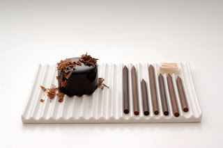 Chocolate pencils by Nendo