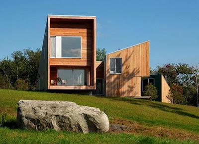 Modern Cedar House in Vermont Mountains