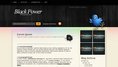 Black Power Blogger Layout