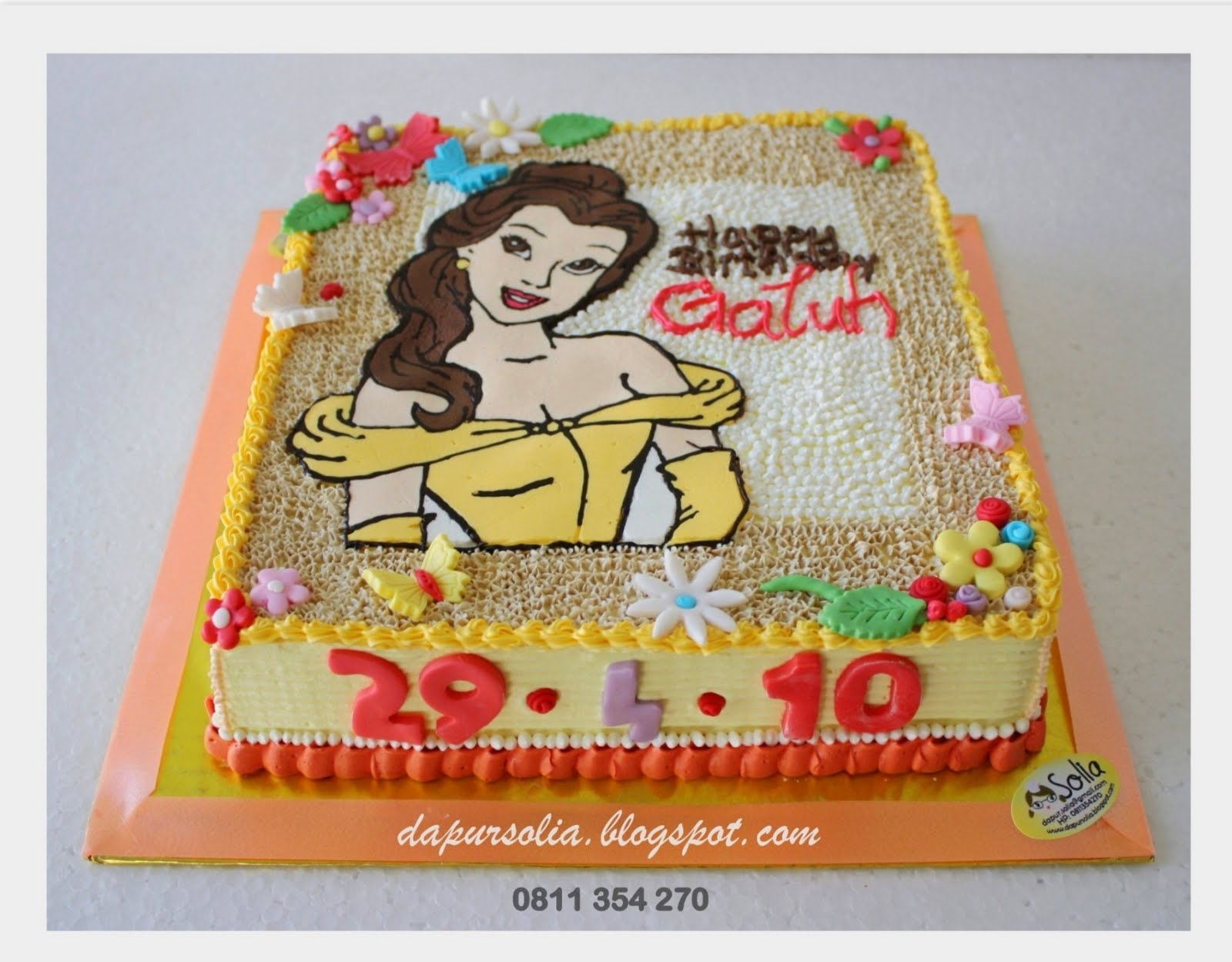 The Fairies Cake Dan Artinya : ** DAPUR SOLIA **: Princess Belle on Strawberry Cotton Cake