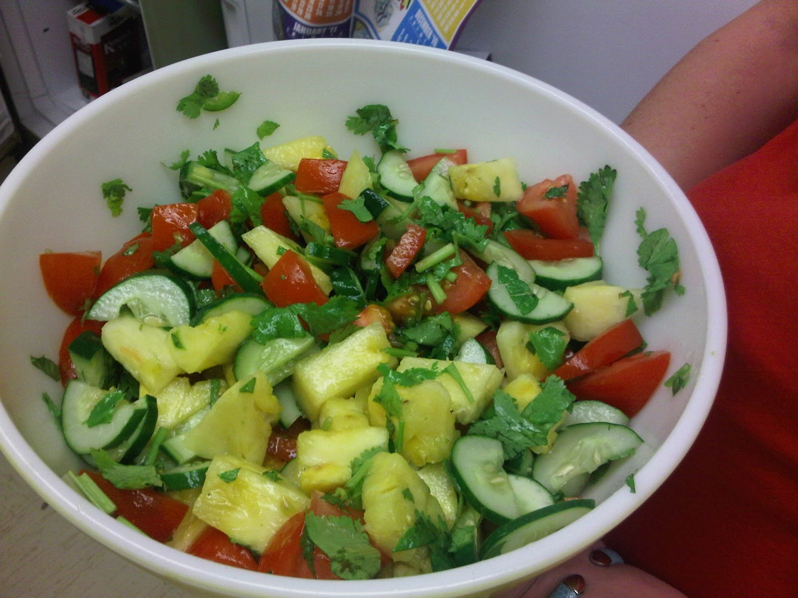 vietnamese pineapple cucumber and tomato salad dressing 1 clove garlic