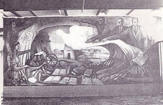 Generaci n del 74 mural en la preparatoria de autlan for Mural prepa 1 uaemex