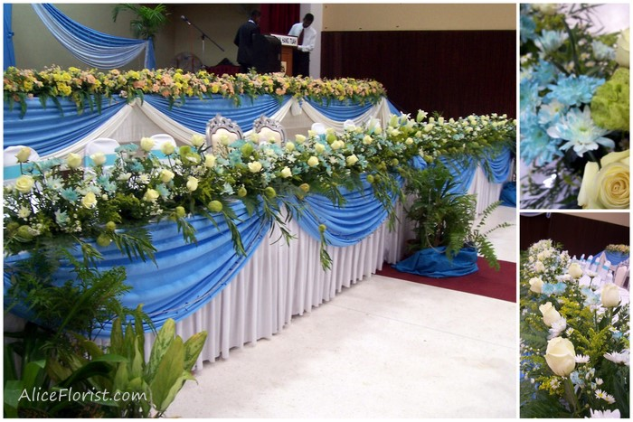 Indian Wedding Decorations BlueGreen Theme