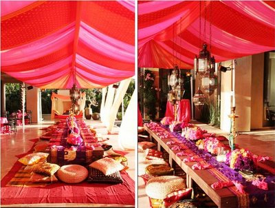 Wedding Items on Pink Canopy For Indian Wedding Decorations