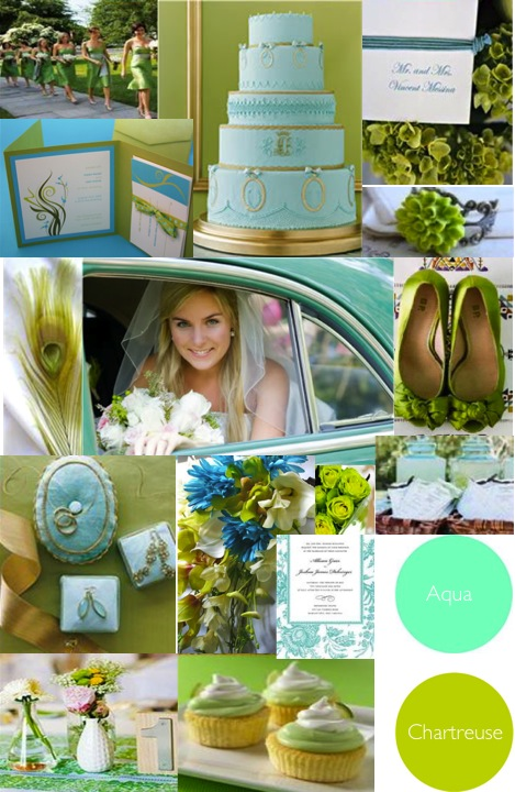 Using shades of green on your wedding day allows you to have a wide range of