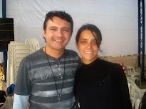 Luis Carvalho e Simone responsavel pelo Blog Rainha da Paz
