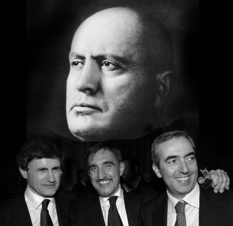 Fascisti Alemanno Gasparri La Russa Mussolini