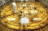 Labyrinth for St Peter's Episcopal Church parish hall: Photo: Robert James Hughes/McKinney Courier-Gazette