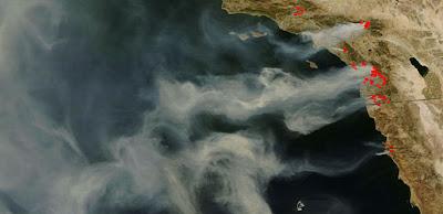 California wildfires, NASA