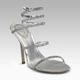 Rene Caovilla Crystal Snake Sandals