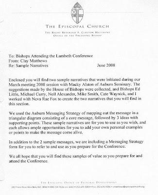 TEC Lambeth talking points page 1