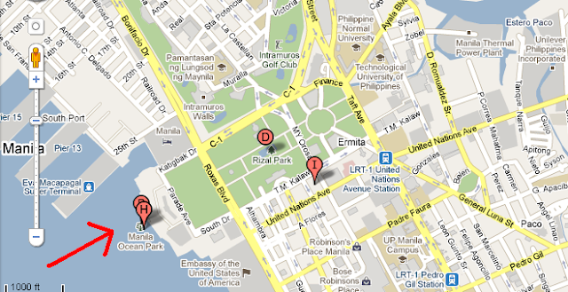 Us Embassy Kuwait Google Map How To Get To The US Embassy - Us embassy manila map