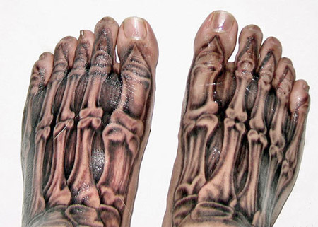 3d tattoo. 3D tattoos like a bone