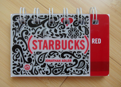 starbucks gift card notebook