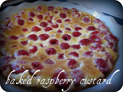 Cozy Kitchen by the Sea: Baked Raspberry Custard