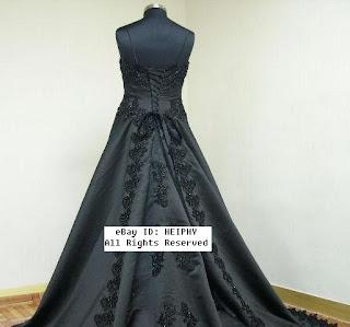 dark grey gown