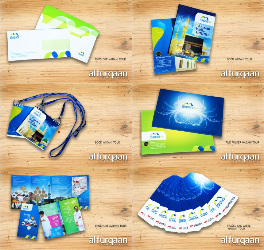 DESAIN STATIONARY &amp; PROMOTION TOOLS MADANI TOUR