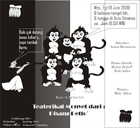 POSTER TEATER PISANG PETTO'