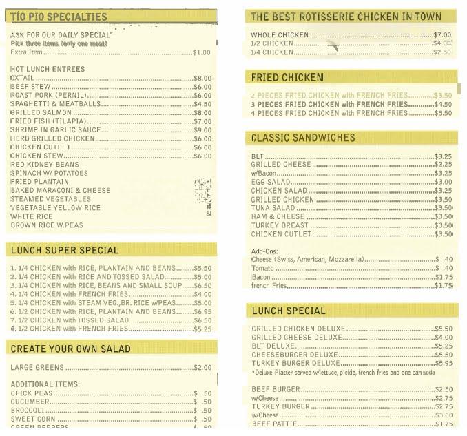 "Backyard Coney Island Menu mcbrooklyn: tio pio menu: ""cheap and delicious"" in downtown brooklyn"