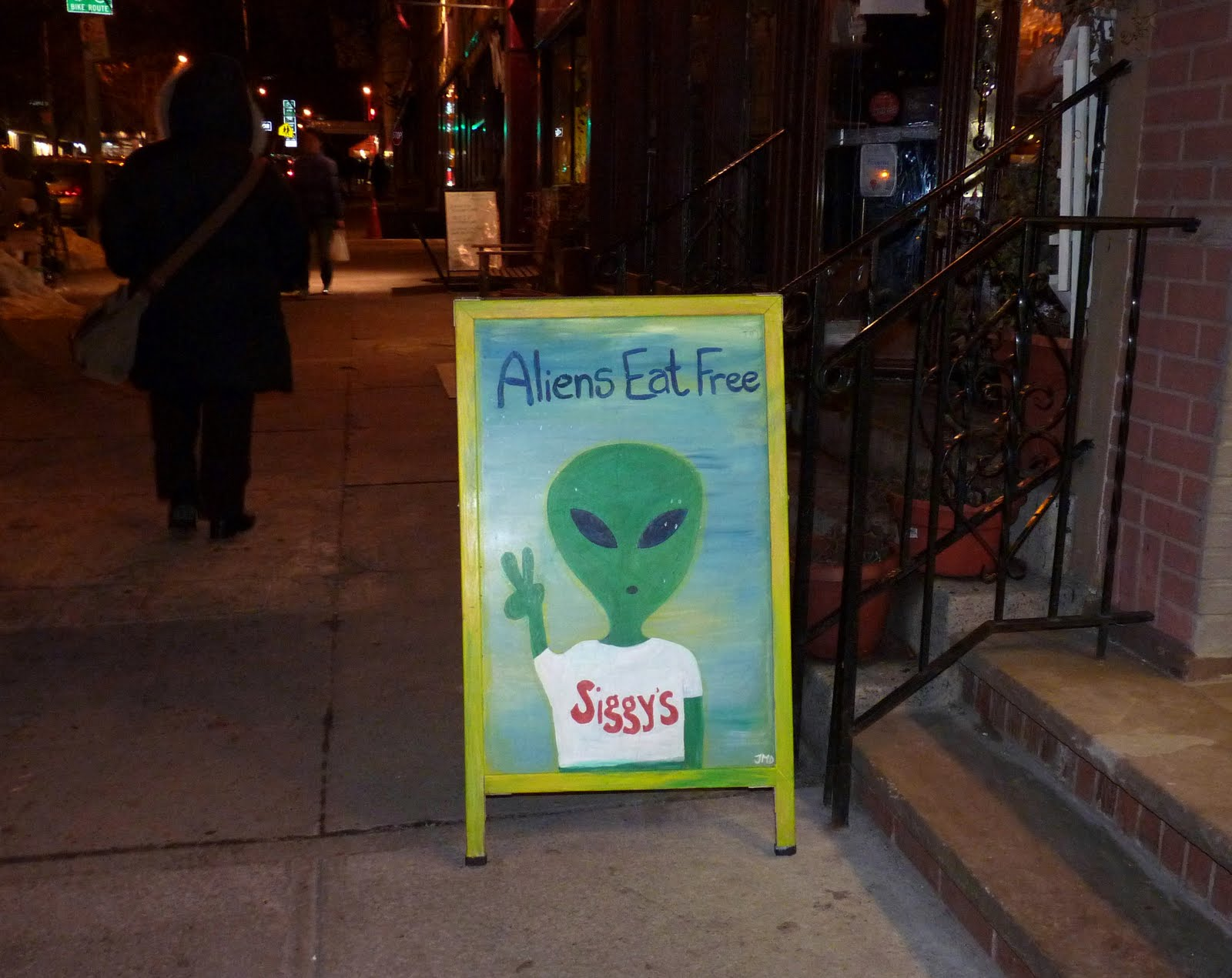 ... Brooklyn Heights has a long-standing policy of feeding aliens for free.