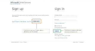 Microsoft Online Services Sign Up portal
