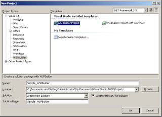 WSPBuilder project Template in Visual Studio 2008