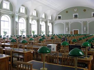 Sala de lectura de la Biblioteca Nacional Rusa