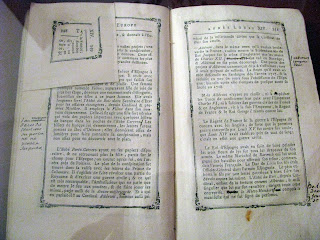 Libro sobre la historia de Francia con las notas de Voltaire