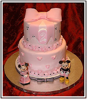mickey mouse cake. pink, Mickey Mouse Cake.