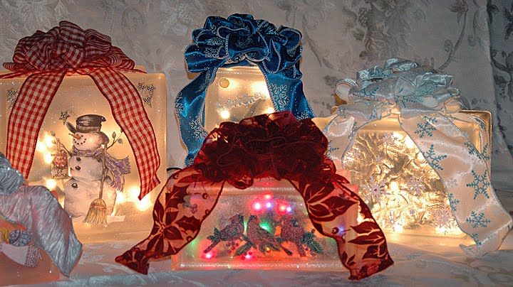 Stacey 39 s sweet shop truly custom cakery llc lighted - Glass block decoration ideas ...