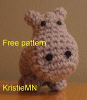 Free hippo amigurumi pattern
