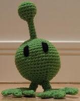 Free alien Amigurumi crochet pattern