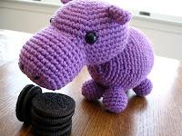 Free corchet hippo pattern