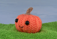 Crochet Halloween Pumpkin Ghost Free Recycling Scrap Pattern