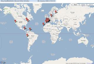 Mapa de las referencias geográficas que agrupan los accesos globales. Hacer clic para aumentar.