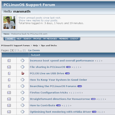 tips and tricks from pclinuxos forum