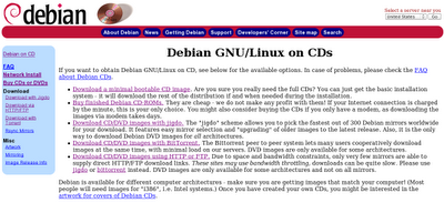 Debian CD/DVD Download Page